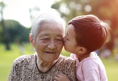 Asian grandma and child sm